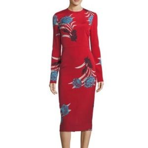 DIANE VON FURSTENBERG Tailored Floral Dress 2